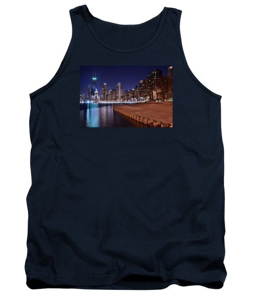 Chicago From The North Tank Top by Frozen in Time Fine Art Photography