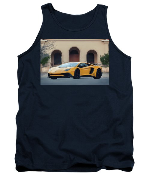 Tank Top featuring the photograph #lamborghini #aventadorsv #superveloce #print by ItzKirb Photography