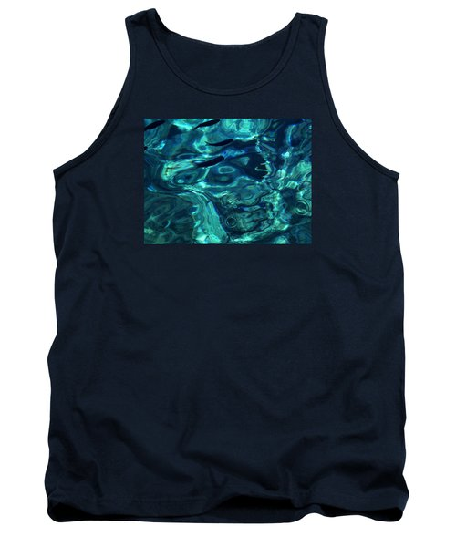 Tank Top featuring the photograph Ocean Water Santorini Greece  by Colette V Hera  Guggenheim
