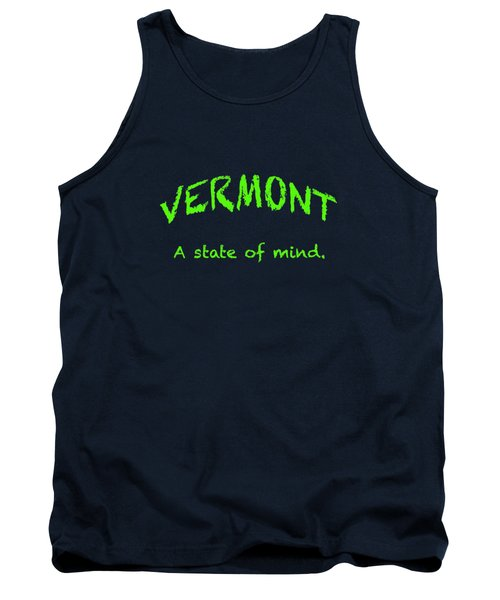 Vermont, A State Of Mind Tank Top by George Robinson