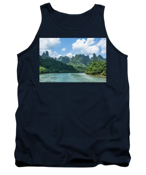 Lijiang River And Karst Mountains Scenery Tank Top