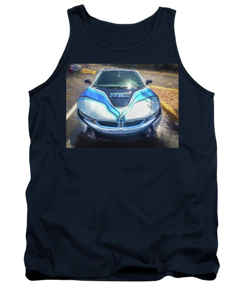 Tank Top featuring the photograph 2015 Bmw I8 Hybrid Sports Car by Rich Franco