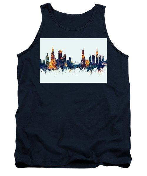 Chicago Illinois Skyline Tank Top