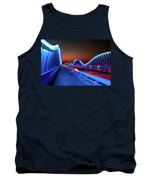 Amazing Night Dubai Vip Bridge With Beautiful Sunset. Private Ro Tank Top