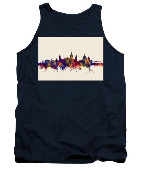 Tank Top featuring the digital art Annapolis Maryland Skyline by Michael Tompsett
