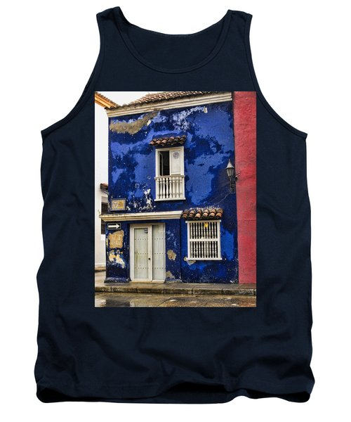 Colonial Buildings In Old Cartagena Colombia Tank Top