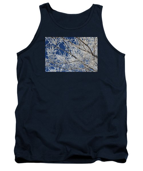 Tank Top featuring the photograph Hoar Frost by Dacia Doroff