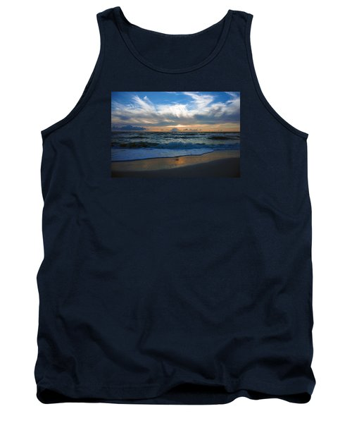 Tank Top featuring the photograph Sunset At Delnor-wiggins Pass State Park by Robb Stan