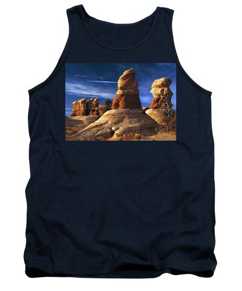 Sandstone Hoodoos In Utah Desert Tank Top