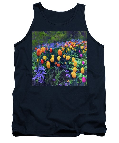 Procession Of Tulips Tank Top