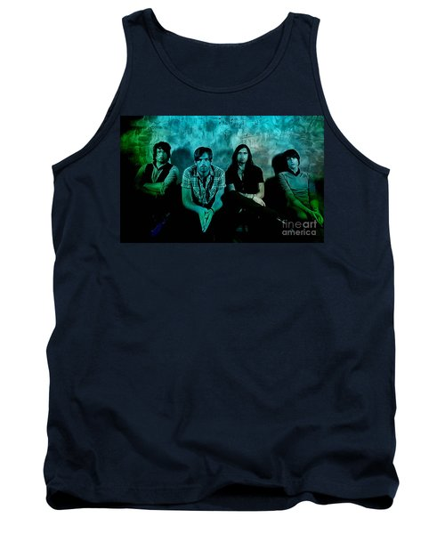 Tank Top featuring the mixed media Kings Of Leon by Marvin Blaine