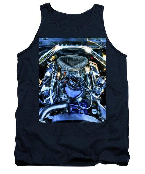 Tank Top featuring the photograph 67 Mustang Horsepower by Trey Foerster