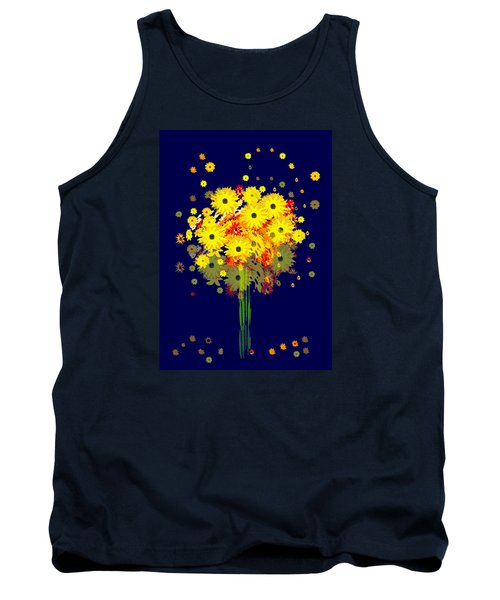 952 - Summer Flowers  Yellow ... Tank Top by Irmgard Schoendorf Welch