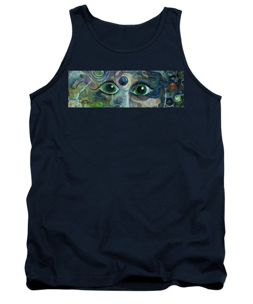 A Astronaut Dreams Of Her Infinite Cosmos Tank Top by Jame Hayes