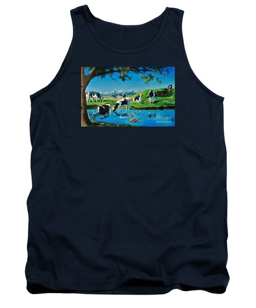 A Black And White Field Tank Top