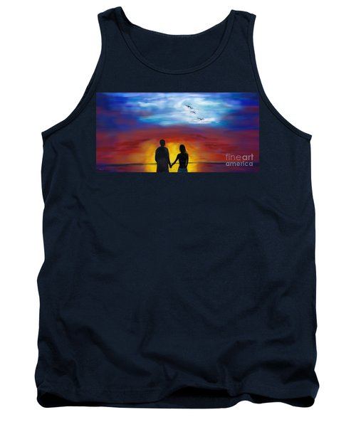 Tank Top featuring the painting A Captivating Love by Leslie Allen