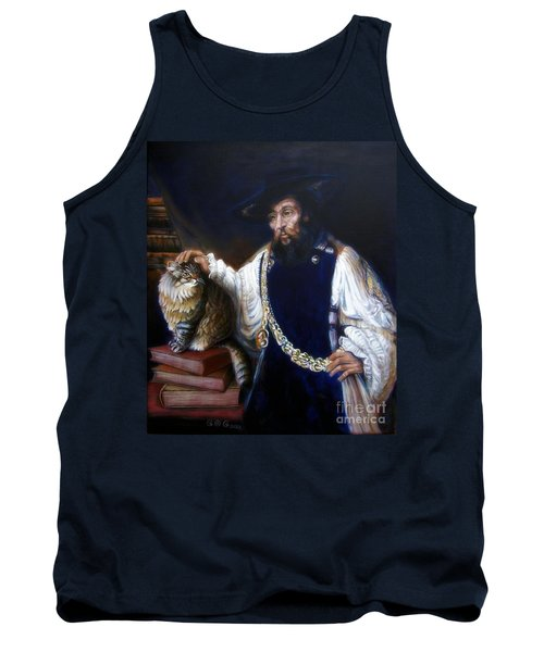 A Cat For Rembrandt_ Aristotle Caresses Calliope Tank Top