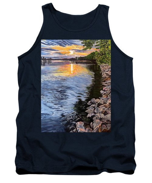 A Fraser River Sunset Tank Top