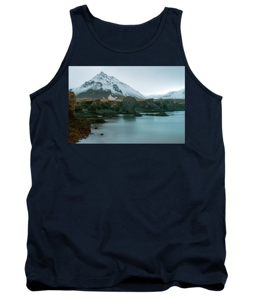 Tank Top featuring the photograph A House Near Snaefellsjokull Mountain, Iceland by Dubi Roman