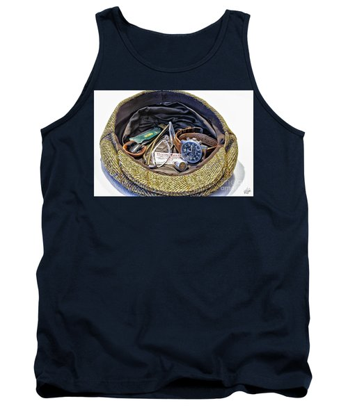 Tank Top featuring the photograph A Man's Items by Walt Foegelle