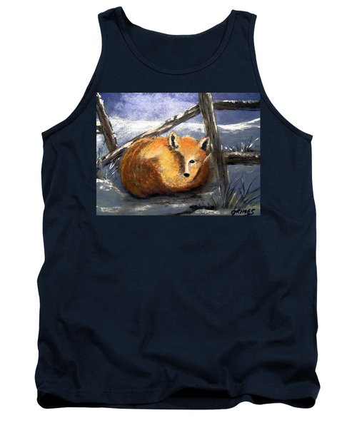 Tank Top featuring the painting A Safe Place To Sleep by Carol Grimes