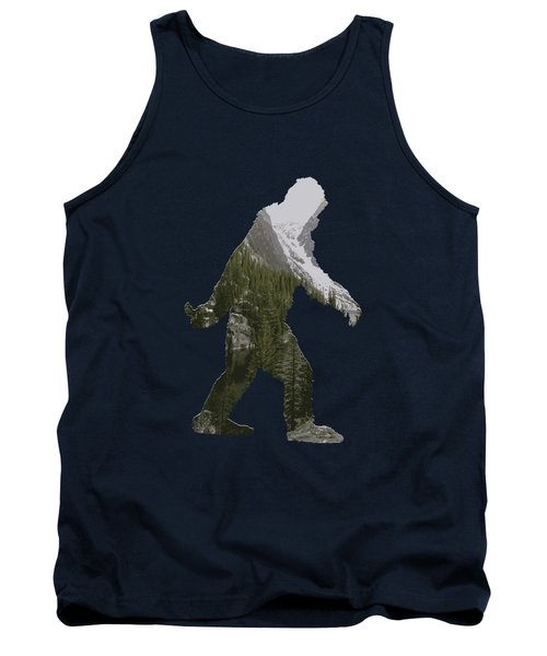 A Sasquatch Bigfoot Silhouette In The Rockies Tank Top