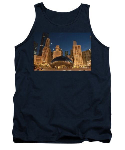A View From Millenium Park At Night Tank Top