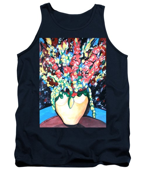 A Welcoming Bouquet Tank Top by Esther Newman-Cohen