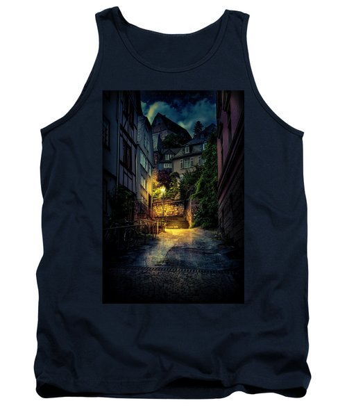 Tank Top featuring the photograph A Wet Evening In Marburg by David Morefield