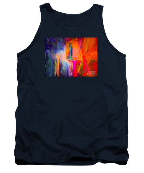 Tank Top featuring the painting Abstract Art  Waiting by Sherri  Of Palm Springs