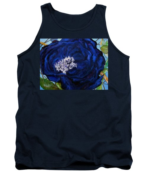 Abstract Blue Tank Top