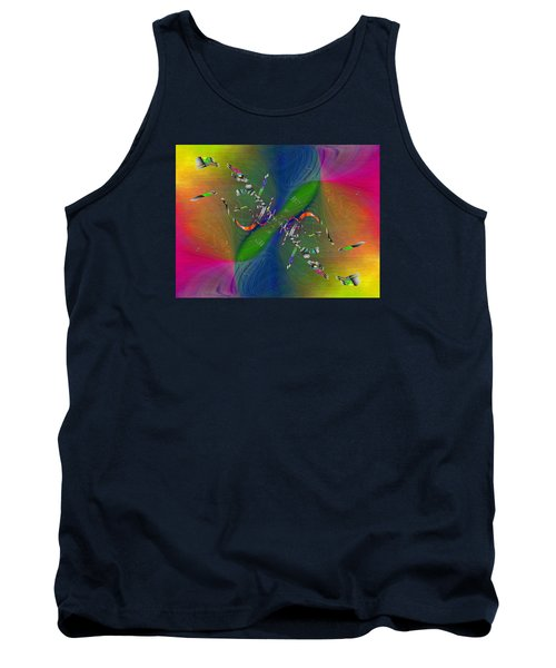 Tank Top featuring the digital art Abstract Cubed 356 by Tim Allen