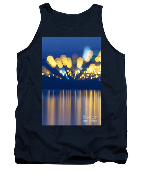 Abstract Light Texture With Mirroring Effect Tank Top