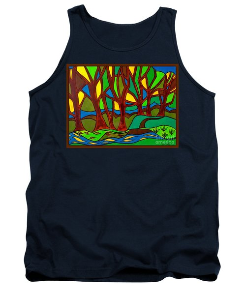 Abstract Of The Otter Pool Tank Top