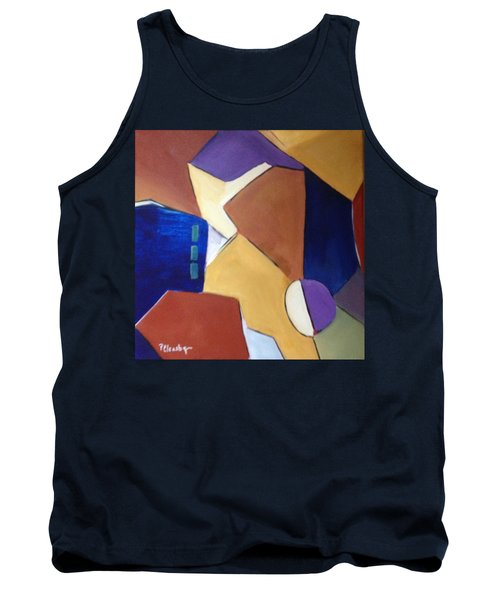Abstract Square  Tank Top by Patricia Cleasby