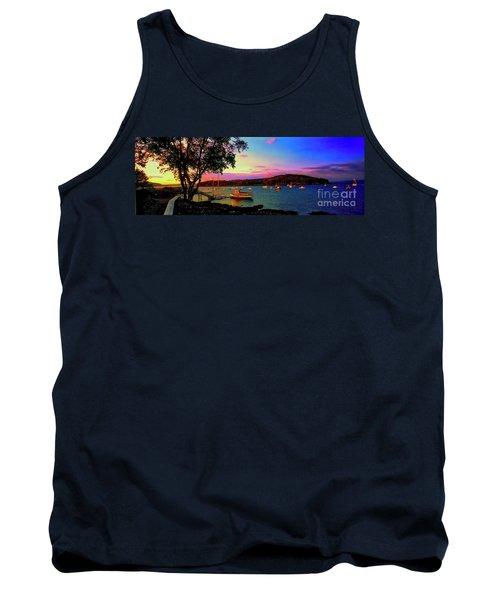 Acadia Bar Harbor Sunset Cruises.tif Tank Top