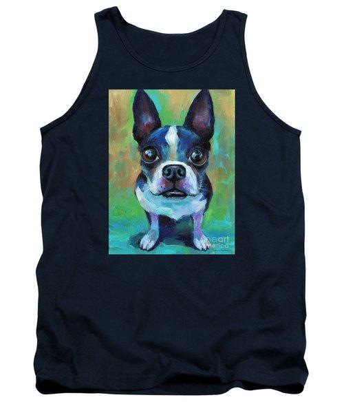Adorable Boston Terrier Dog Tank Top by Svetlana Novikova
