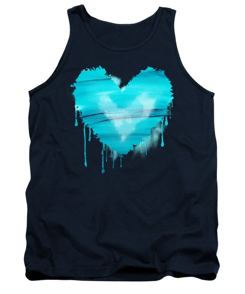 Tank Top featuring the painting Adrift In A Sea Of Blues Abstract by Nikki Marie Smith
