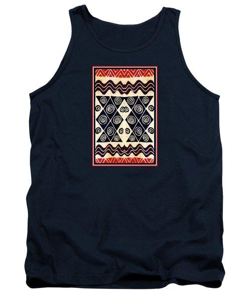 African Tribal Textile Design Tank Top
