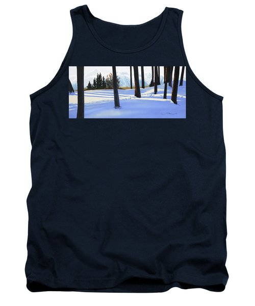 Afternoon In Snowy Mountains Tank Top
