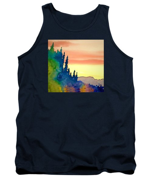 Alaskan Sunset Tank Top by Jan Amiss Photography