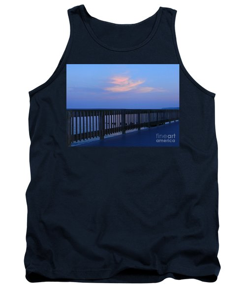 Tank Top featuring the photograph Alls Quiet On The Beach Front by Emmy Marie Vickers