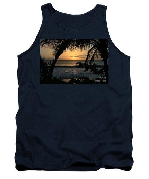 Aloha Aina The Beloved Land - Sunset Kamaole Beach Kihei Maui Hawaii Tank Top by Sharon Mau