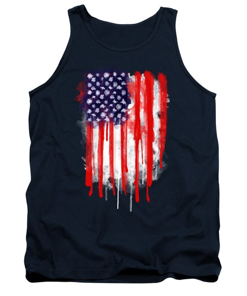 American Spatter Flag Tank Top