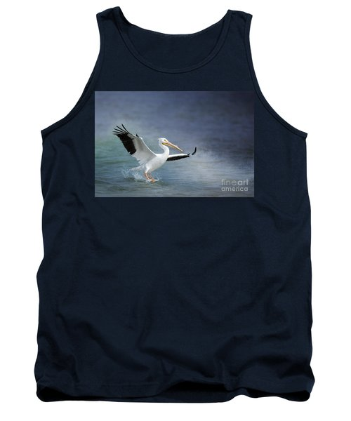 American White Pelican  Tank Top by Bonnie Barry