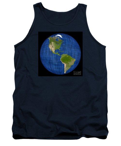Americas On A Globe The Western Hemisphere Tank Top