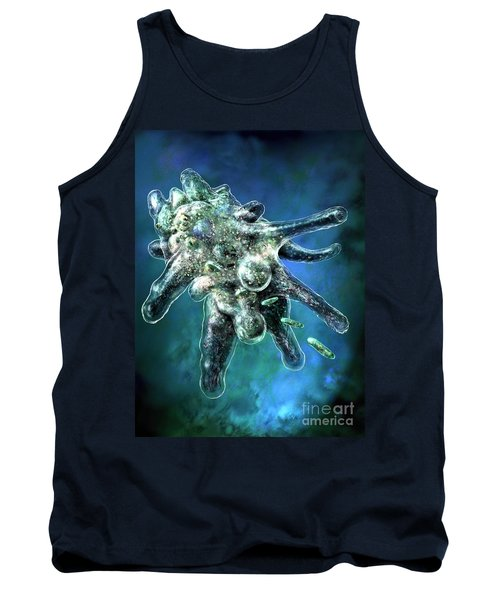 Amoeba Blue Tank Top