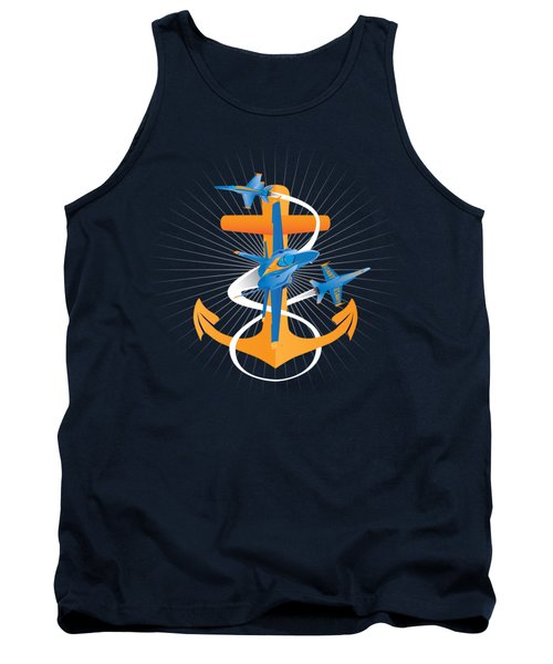 Anchors Aweigh Blue Angels Fouled Anchor Tank Top