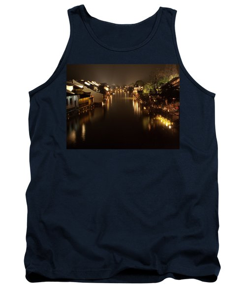 Ancient Chinese Water Town Tank Top