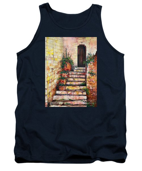 Ancient Stairway Tank Top by Lou Ann Bagnall